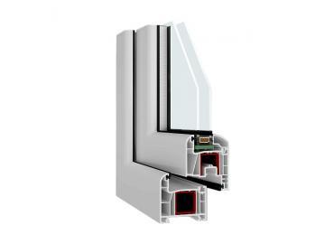 1 Fluegel Balkontuer weiß/weiß Standard 7000