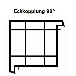 Kopplungsprofil - Farbe zum Fenster passend