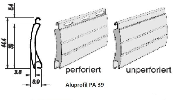Rollladenlamellen PA39