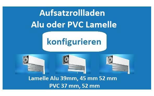 Aufsatzrollladen mit Alulamellen konfigurieren